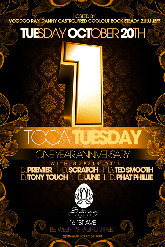 23804 • Tony Touch 1 Year Anniversary Toca Tuesdays 1st Anniversary @ Sutra Lounge (NYC)