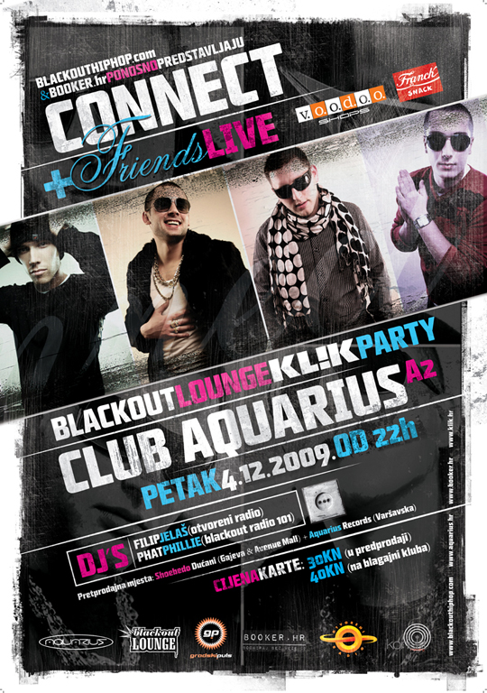 Plakat i flyer Connect & Friends Live @ Blackout Lounge (Klik party)