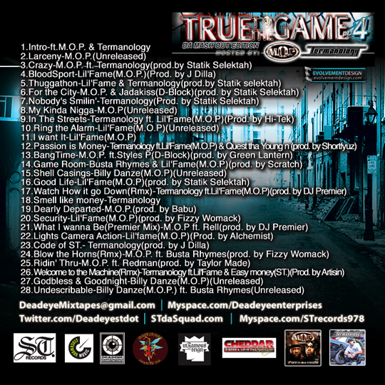 truetothegamept4backcover DJ Deadeye   True To The Game PT.4: Da Mash Out Edition