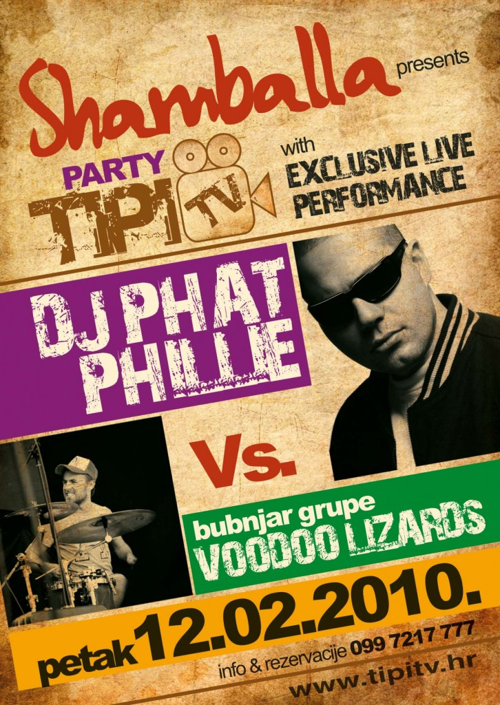 TipiTvParty FLYER A6 726x1024 Tipi TV Party @ Shamballa