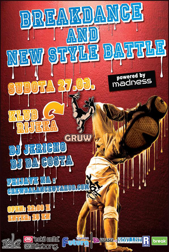 flayerbreak Breakdance & New Style Battle @ Gruw (Rijeka)