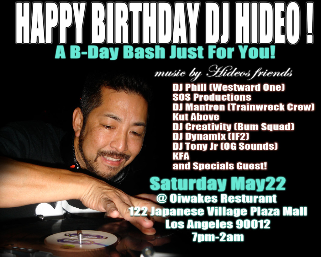bday2 DJ Hideo Birthday Bash