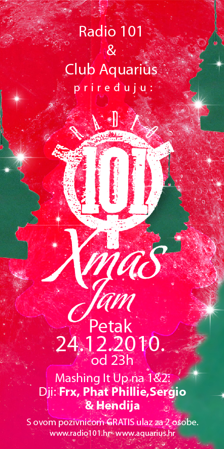 101 party fin1 Radio 101 Xmas Jam @ Club Aquarius (Zagreb)
