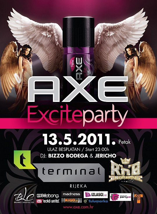 AXE Excite RnB EXCLUSIVE Front DJ Bizzo @ AXE Excite RnB Exclusive (Terminal, Rijeka)