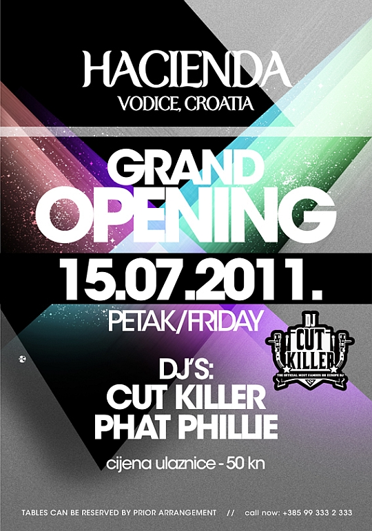 OTVORENJE HACIENDA DJ Cut Killer & DJ Phat Phillie @ Hacienda Grand Opening (Vodice)