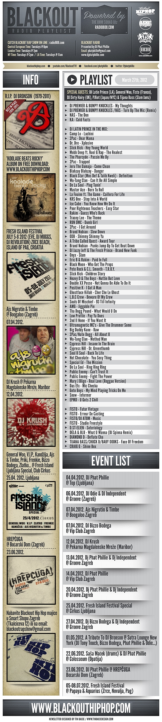 PLAYLIST 27.3.2012 Blackout Radio Playlist & DL Links (Mar 27th, 2012)