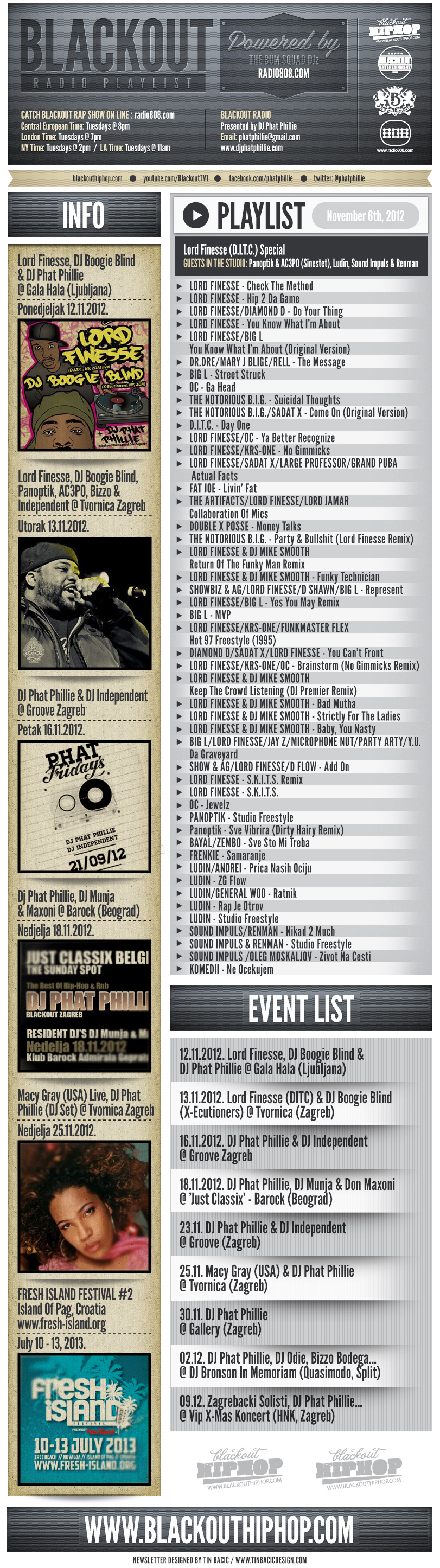 PLAYLIST Lord Finesse 06 11 Blackout Radio Playlist & DL Links (Nov 6th, 2012)    Lord Finesse Special