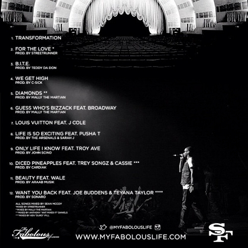 fabolous st2 tracklist 600x600 Fabolous   The Soul Tape 2 (Mixtape)