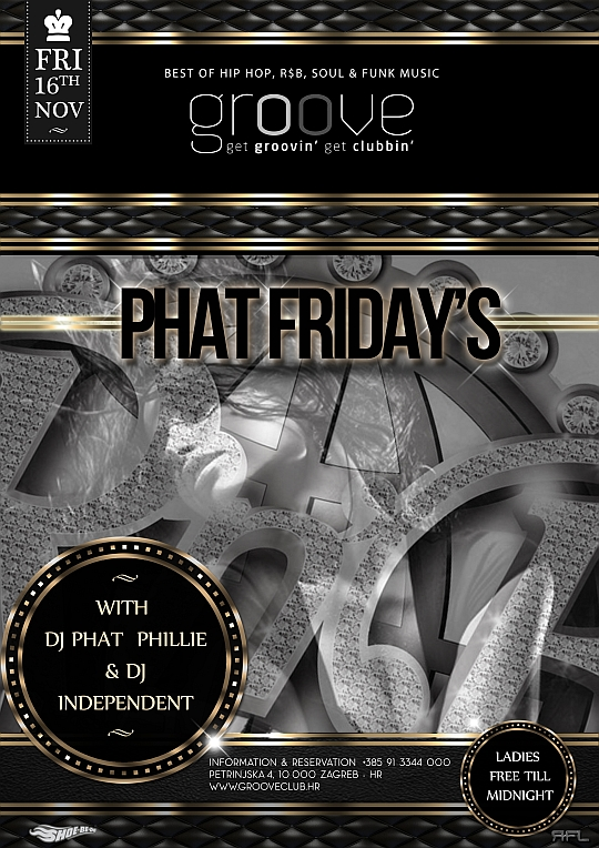 phat fridays groove club Phat Fridays @ Groove Club (16.11.)