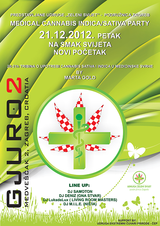 PLAKAT1 Medical Cannabis Indica / Sativa Party @ Gjuro 2