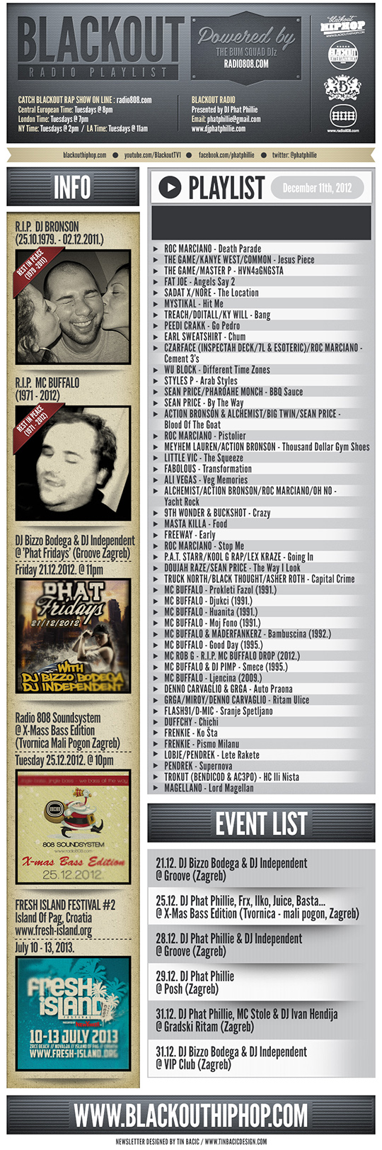 PLAYLIST 11 12 Blackout Radio Playlist & DL Links (Dec 11th, 2012)