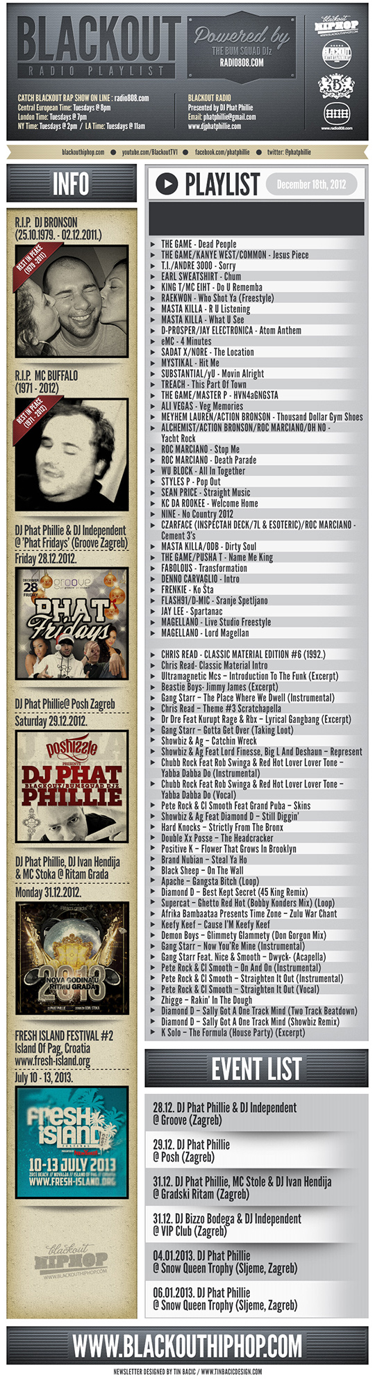 PLAYLIST18 11 Blackout Radio Playlist & DL Links (Dec 18th, 2012)
