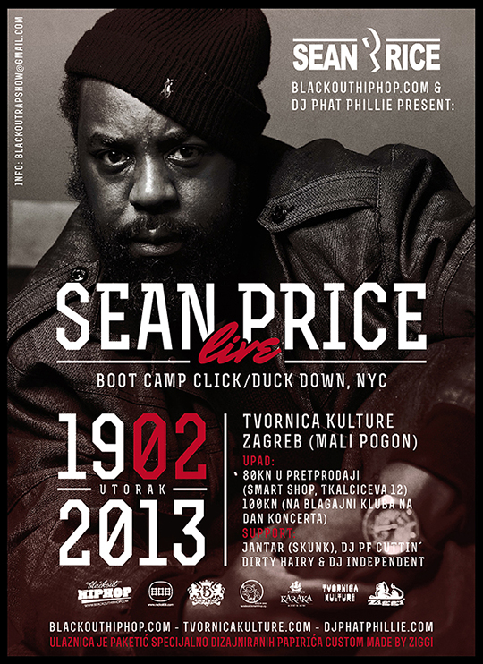 SEAN PRICE BLACKOUT 2 Sean Price @ Tvornica (Raspored nastupa)