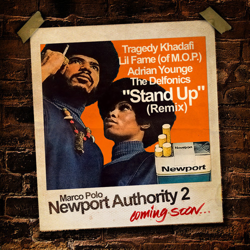 stand up remix Marco Polo Feat. Tragedy, Lil Fame, Adrian Younge & The Delfonics   Stand Up (Remix)