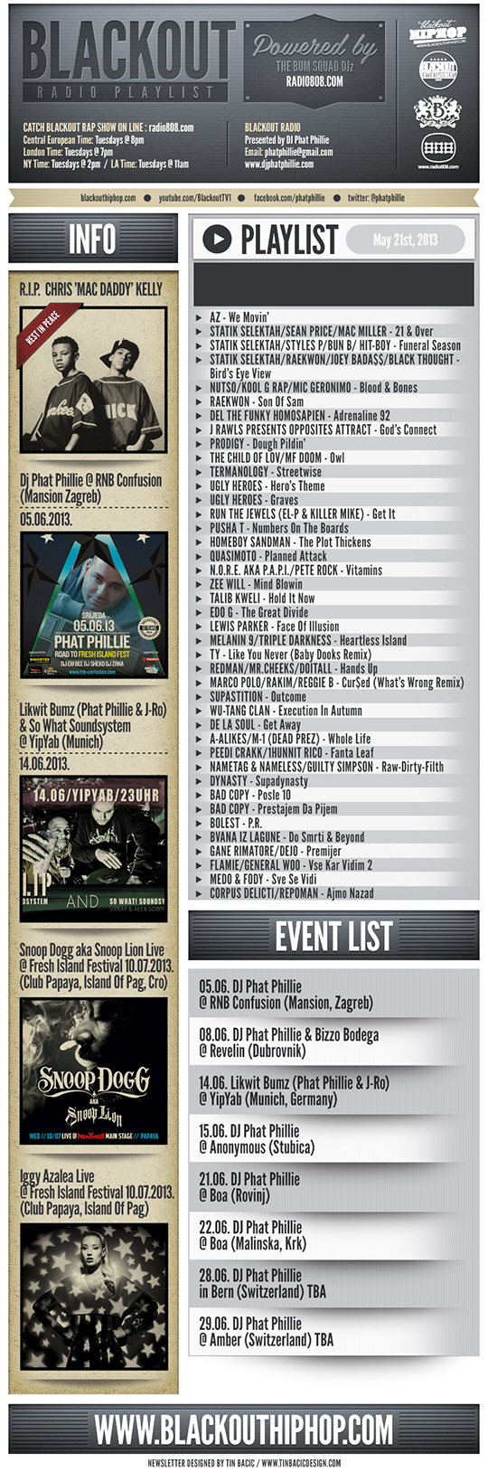 PLAYLIST 21 5 Blackout Radio Playlist & DL Links (May 21st, 2013)
