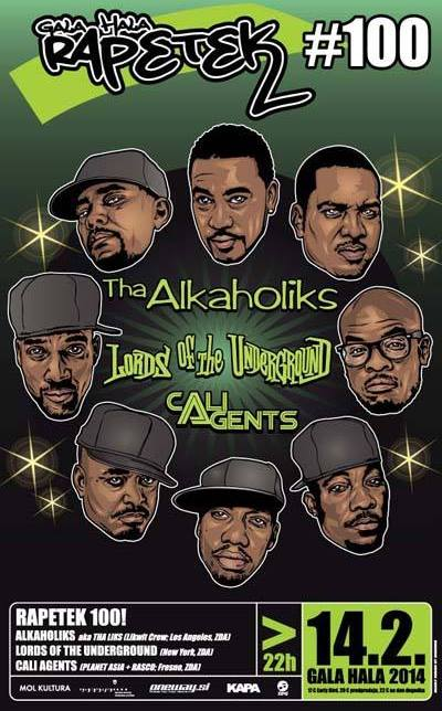 rap petek 100 Tha Alkaholiks, Lords Of The Underground & Cali Agents Live @ Rapetek (Ljubljana)