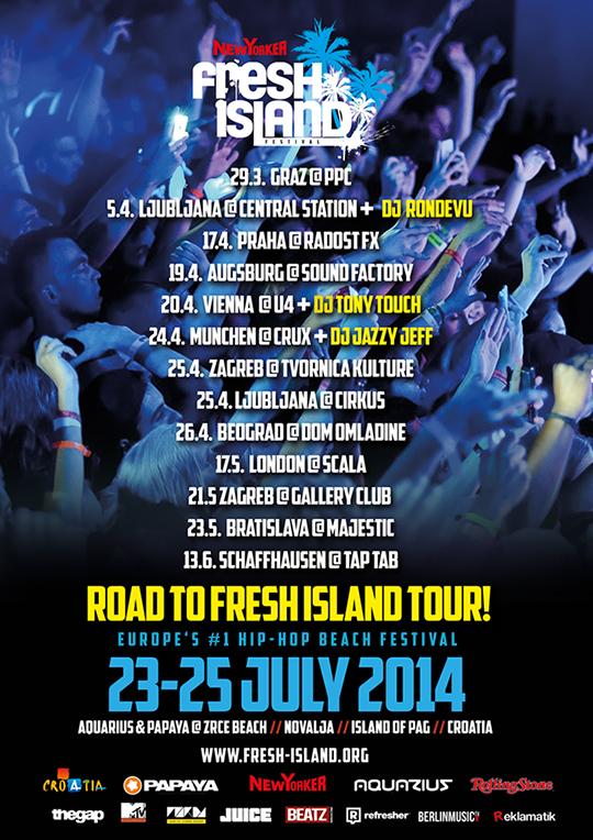 promoparty Road to Fresh Island (Promo Tour)