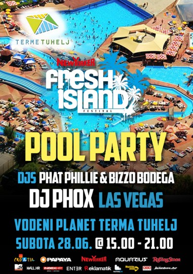 pool party 381x540 Nagradna igra: Dijelimo ulaznice za New Yorker Fresh Island pool party u Tuhelju!