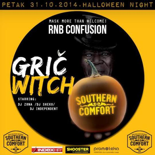 rnb conf halloween 1 540x540 Grič Witch / RNB Confusion Halloween @ Kino Grič