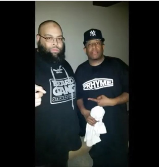 Jakk Frost & DJ Premier Pic backstage at PRhyme Show (Philly)